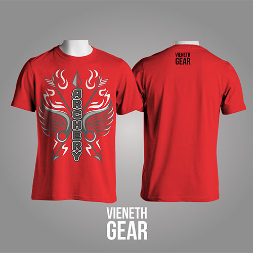 T-SHIRT VERTICAL ARCHERY RED