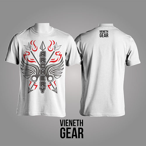 T-SHIRT VERTICAL ARCHERY WHITE