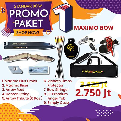 paket promo standar bow 1 maximo